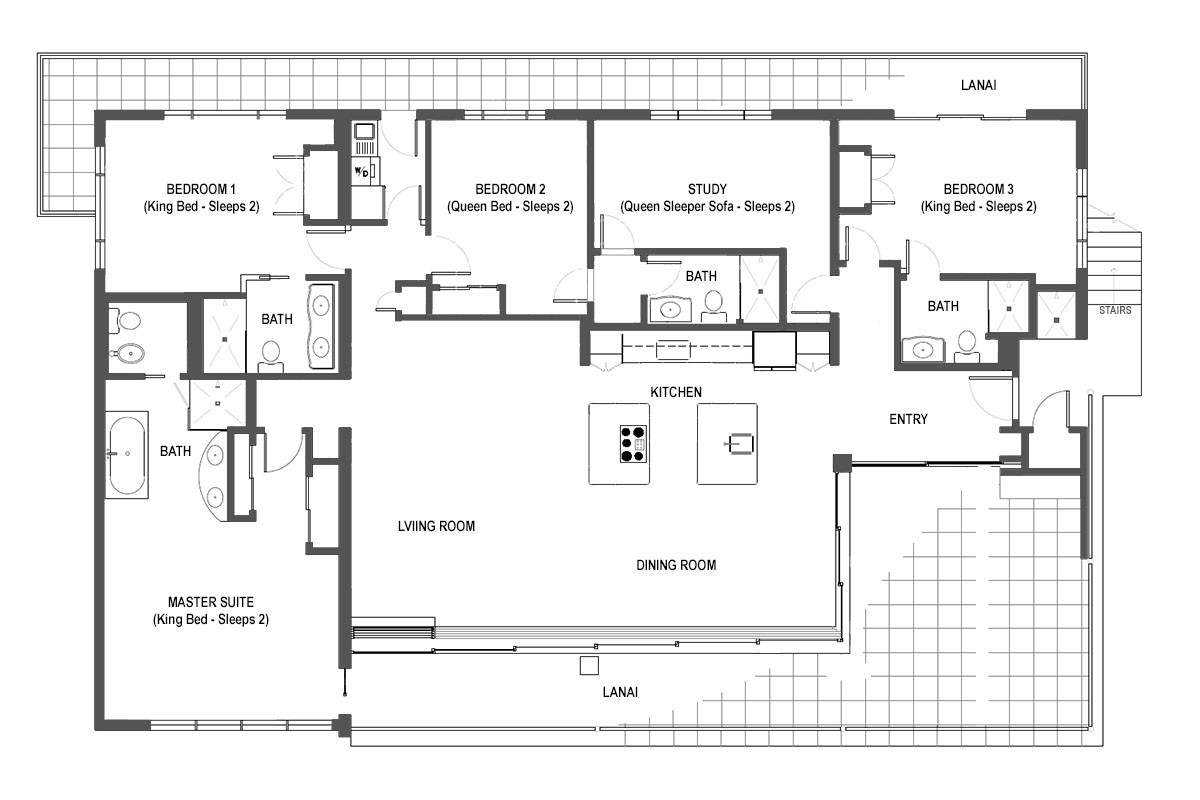 The Penthouse Maui floor plan